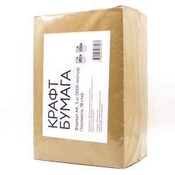 Бумага крафт, формат А4, 80 гр/м2 (1000 листов, 5 кг)