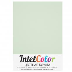 Бумага цветная IntelColor (А4, 80 г/кв.м, Светло-зеленый, 50 листов)