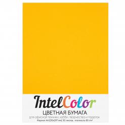 Бумага цветная IntelColor (А4, 80 г/кв.м, Оранжевый неон, 50 листов)