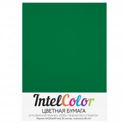 Бумага цветная IntelColor (А4, 80 г/кв.м, Изумруд IC152, 50 листов)