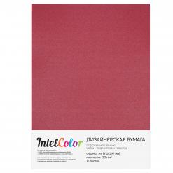 Дизайнерская бумага Majestic Emperor Red, Императорский красный (120 гр/м2, формат А4, 10 листов)