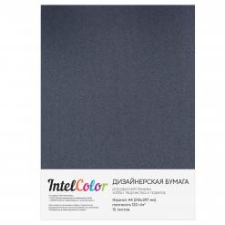 Дизайнерская бумага Majestic Anthracite, Антрацит (120 гр/м2, формат А4, 10 листов)
