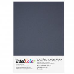 Дизайнерская бумага Majestic Steel Grey, Темно-серый сатин (120 гр/м2, формат А4, 10 листов)