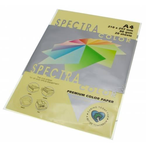 Бумага цветная Spectra Color IT115, Цвет: Canary Канареечный, 20 листов