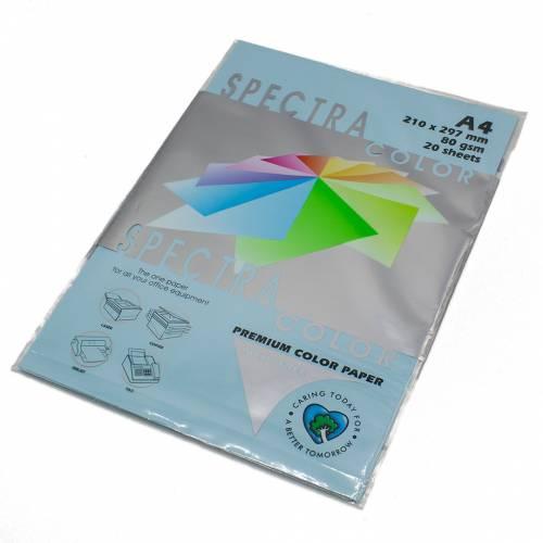Бумага цветная Spectra Color IT180, Цвет: Blue Светло-синий, 20 листов