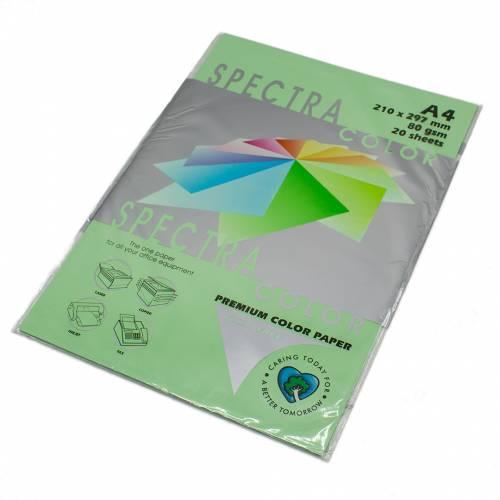 Бумага цветная Spectra Color IT190, Цвет: Green Зеленый, 20 листов