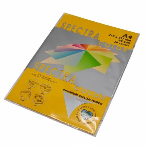 Бумага цветная Spectra Color IT200, Цвет: Gold Золотистый, 20 листов