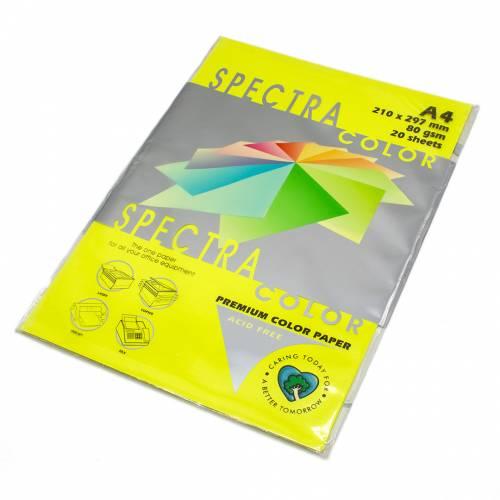 Бумага цветная Spectra Color IT363, Цвет: Cyber HP Yellow Желтый неон, 20 листов