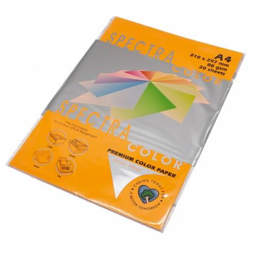 Бумага цветная Spectra Color IT371, Цвет: Cyber HP Orange Оранжевый неон, 20 листов