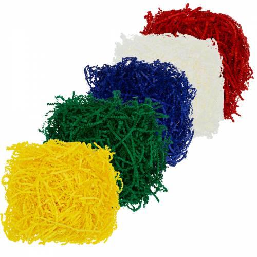 Набор из 5 цветов бумажного наполнителя.