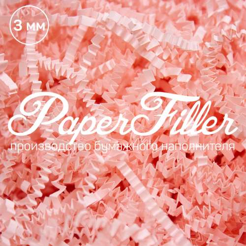 Бумажный наполнитель. Розовый фламинго, 3 мм, 50 гр