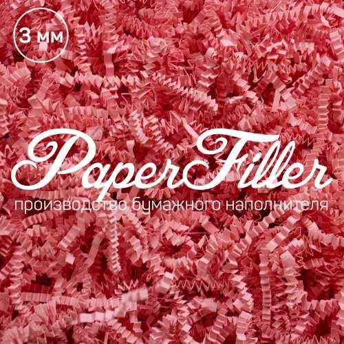 Бумажный наполнитель. Розовый, 3 мм, 50 гр
