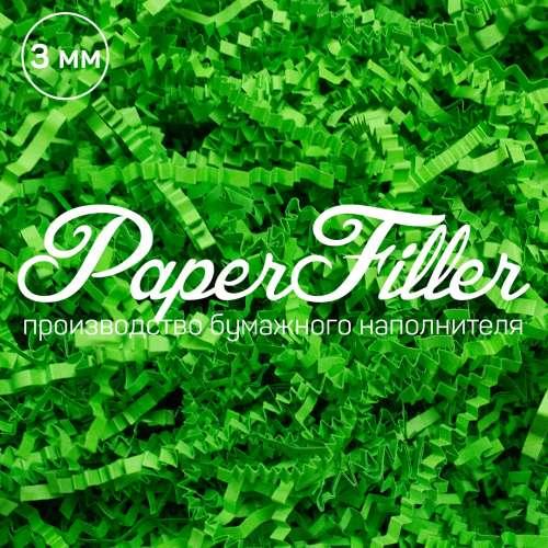 Бумажный наполнитель. Лесной зеленый, 3 мм, 50 гр