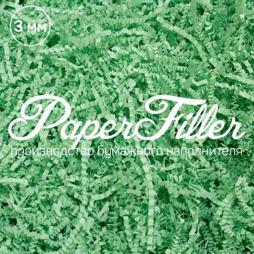 Бумажный наполнитель. Зеленый, 3 мм, 100 гр