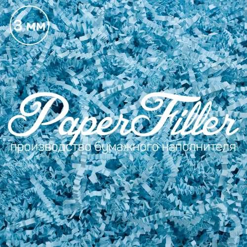 Бумажный наполнитель. Голубой, 3 мм, 100 гр