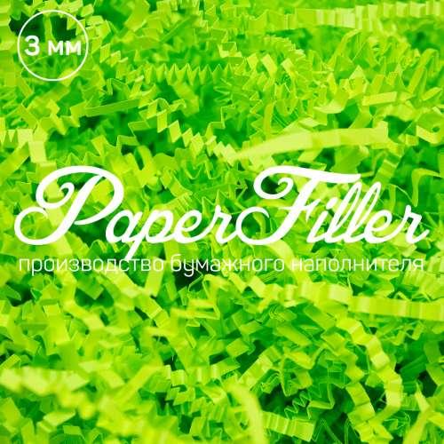 Бумажный наполнитель. Зеленый неон, 3 мм, 100 гр