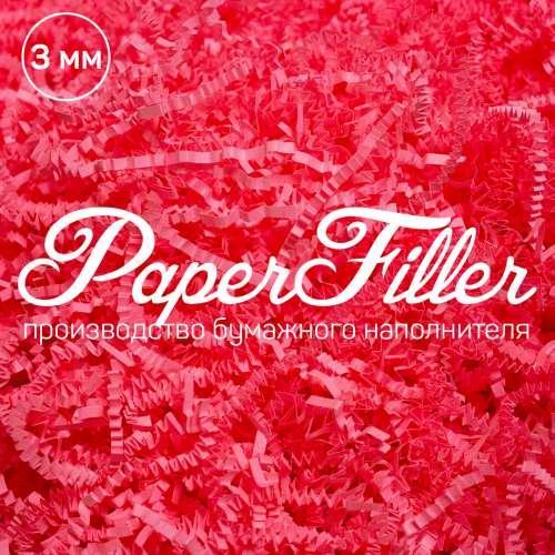 Бумажный наполнитель. Розовый неон, 3 мм, 100 гр