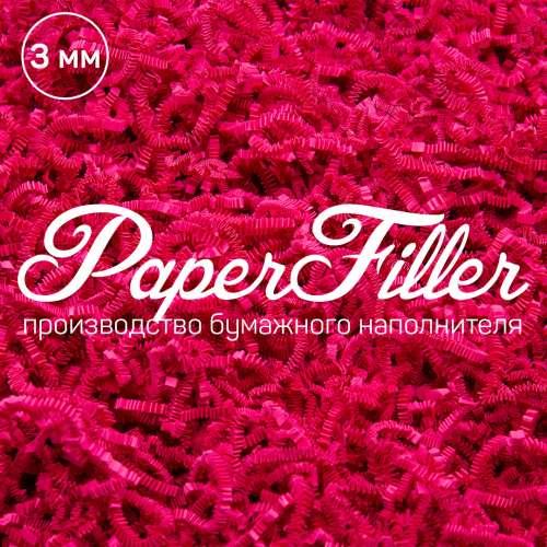 Бумажный наполнитель. Кукольный розовый, 3 мм, 50 гр