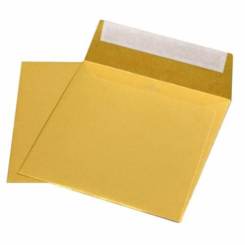 Конверты Fedrigoni Sirio Pearl Aurum, 170х170 мм, квадратный, дизайнерский, золотой металлик, 10 шт