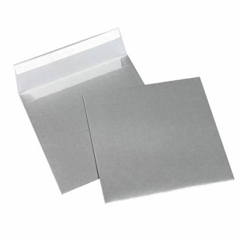 Конверты Fedrigoni SIRIO PEARL PLATINUM, 170х170 мм, квадратный, темно-серый металлик, 10 шт