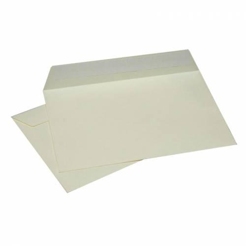 Конверт Кремовый, формат C6, плотность 120 гр./м2, лента, 20 шт