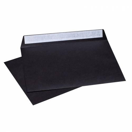 Конверт Черный, формат C6, плотность 120 гр./м2, лента, 20 шт