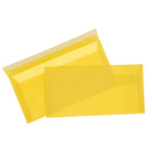 Конверт из Золотой кальки, Е65 100х220 мм, прозрачный, лента, 10 шт