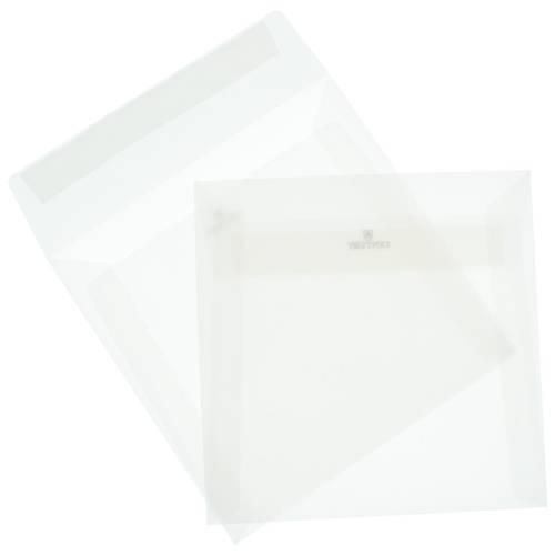 Конверт полупрозрачный из кальки квадратный 170х170 мм, 10 шт